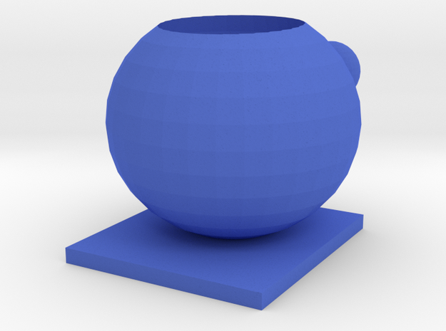 104102216 藍子超 人偶花盆 in Blue Strong & Flexible Polished
