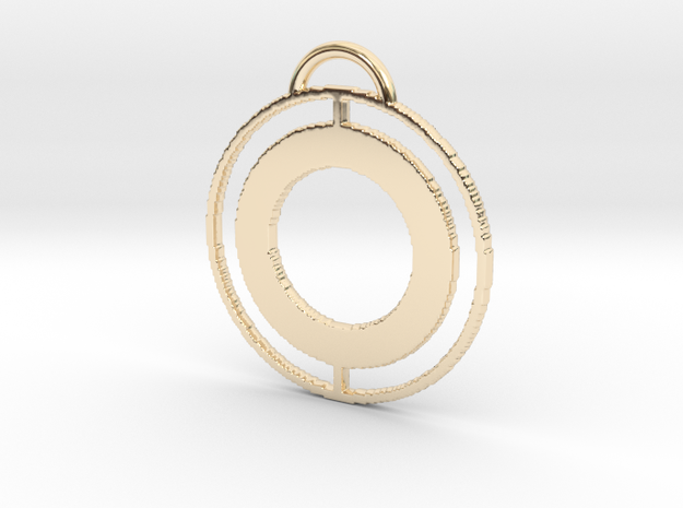 Circular Keychain in 14k Gold Plated