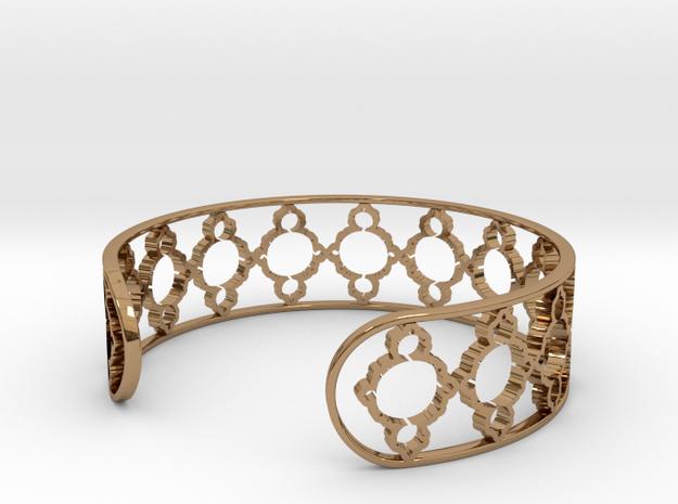 Mandelbrot Uno Bracelet 7in (18cm) in Polished Brass