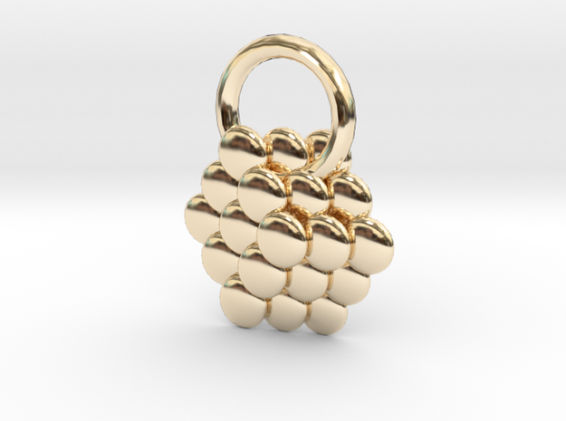 Sphere and cube in 14K Yellow Gold