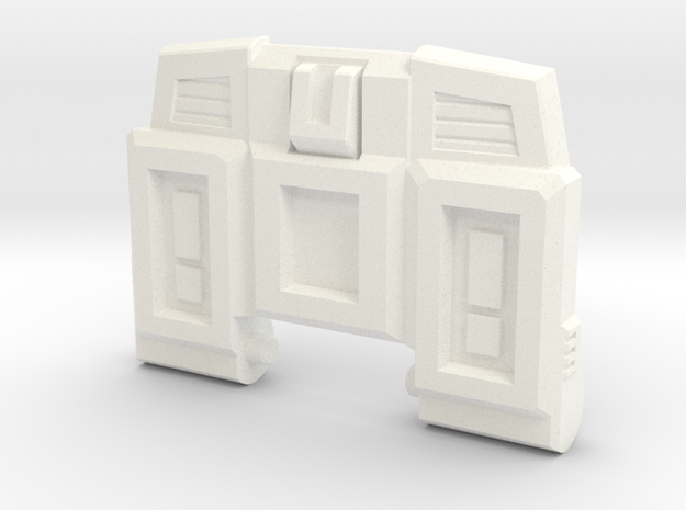 Pessimist Roadwarrior's G1 Chest Plate in White Processed Versatile Plastic