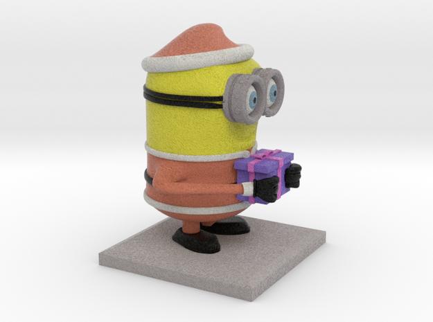Santa Minion (8cm height) in Full Color Sandstone