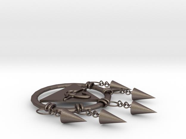 104102244劉權 項鍊 in Polished Bronzed Silver Steel