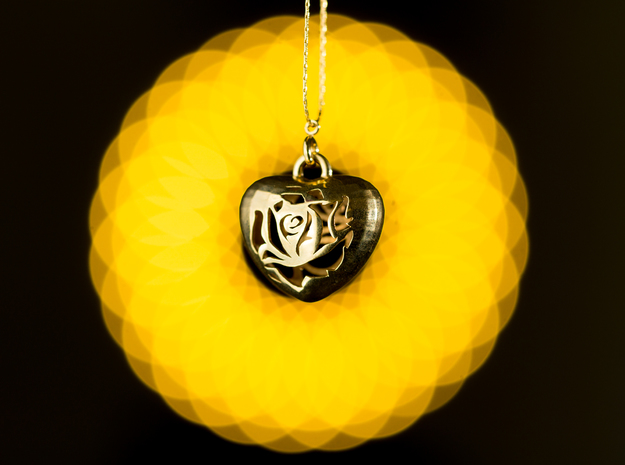 Love Pendant  in 18K Gold Plated