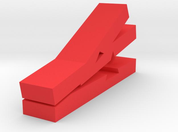 恐龍夾子.stl in Red Strong & Flexible Polished