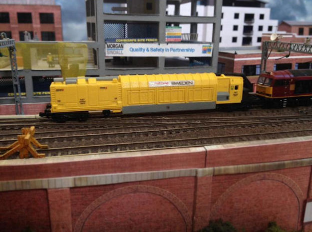 N Gauge RA7 Railvac Air/Vacuum Excavator Wagon in Smooth Fine Detail Plastic