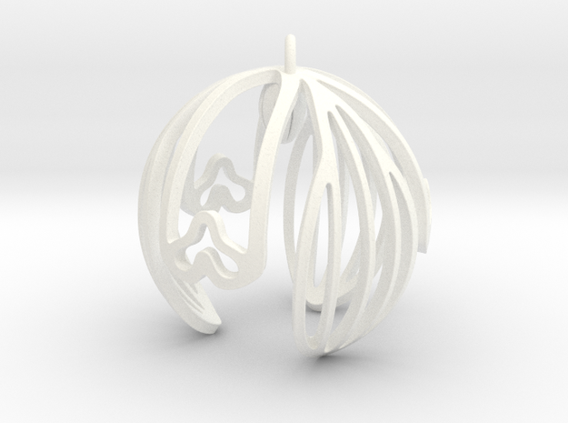 Snowdrop Ornament in White Strong & Flexible Polished