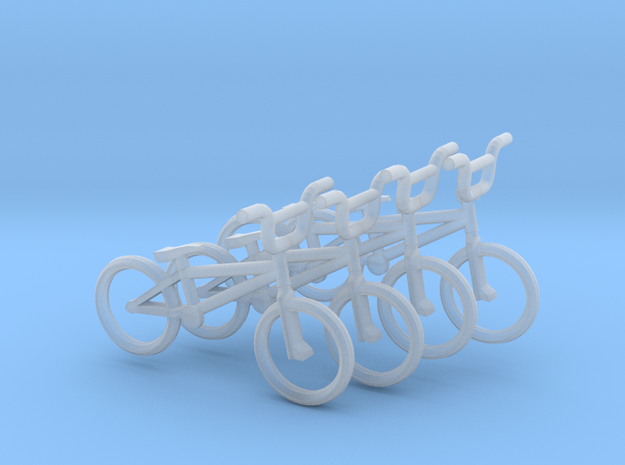 OO (1:76) BMX Bikes 4 pack in Smooth Fine Detail Plastic