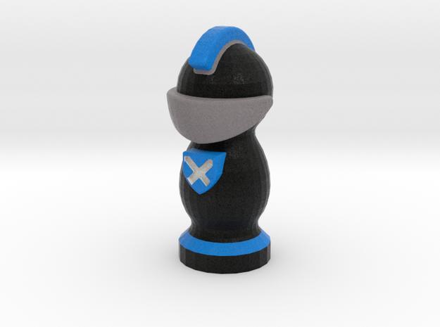 Catan Robber Knight Blk Blu Scot in Full Color Sandstone