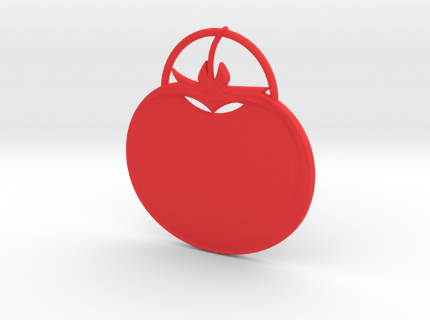 Tomato Pendant in Red Strong & Flexible Polished