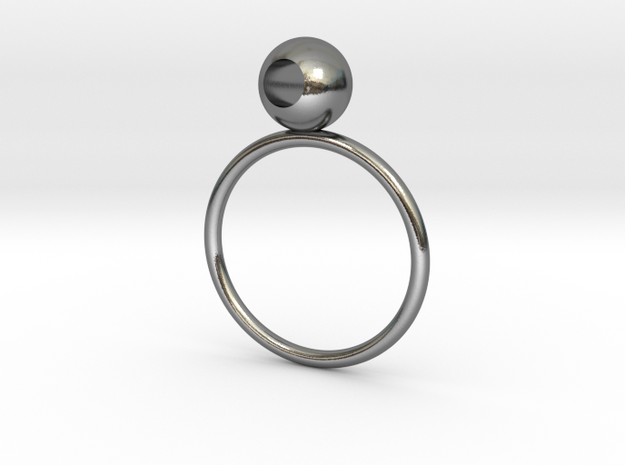 See through rings in Polished Silver