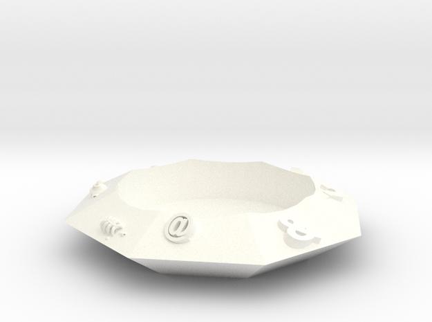 鑽石杯墊 in White Strong & Flexible Polished