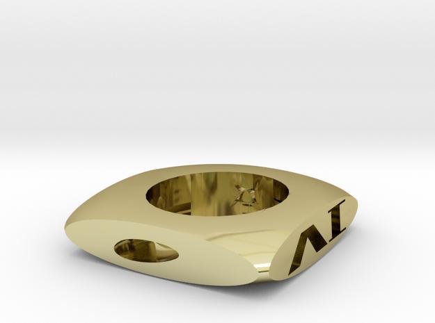骰子造型煙灰缸 in 18k Gold Plated