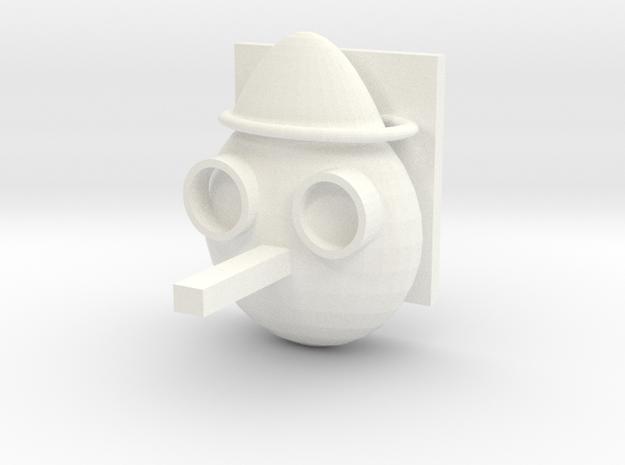 Marionette Hook in White Processed Versatile Plastic