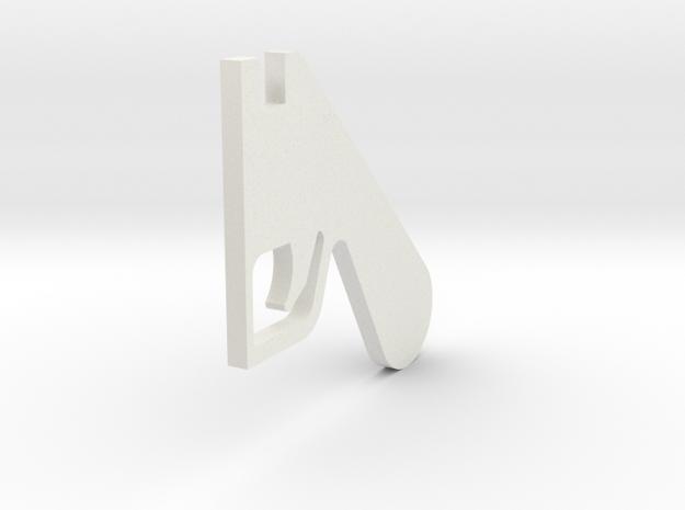 LPA NN-14 - Center grip in White Natural Versatile Plastic