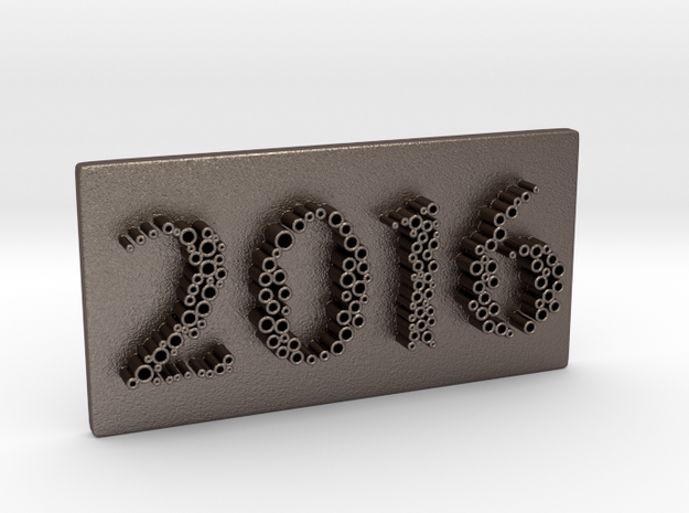 01-2016 in Polished Bronzed Silver Steel