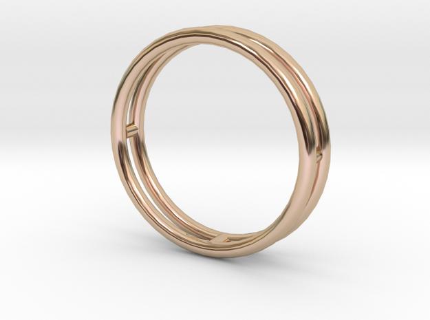 雙層手環 in 14k Rose Gold Plated Brass