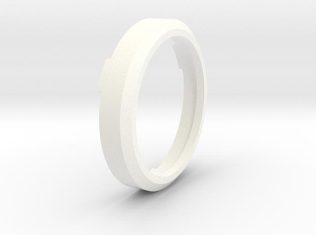 Flange in White Processed Versatile Plastic