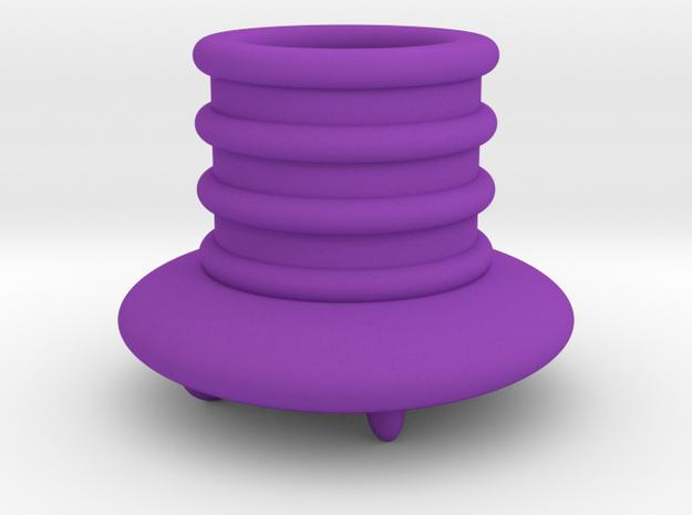 飛碟筆筒.stl in Purple Strong & Flexible Polished