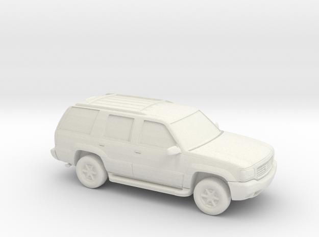 1/87 1999-01 Cadillac Escalade in White Natural Versatile Plastic