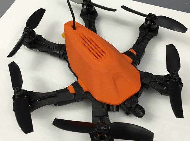 Raiju RX155 Canopy Alternative  - R01 Shell in Orange Processed Versatile Plastic