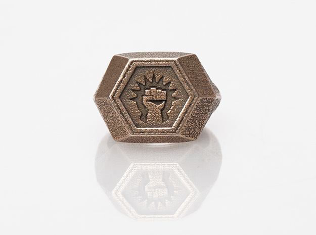 Magic: The Gathering    Boros Ring(US Size 12) in Polished Bronzed Silver Steel