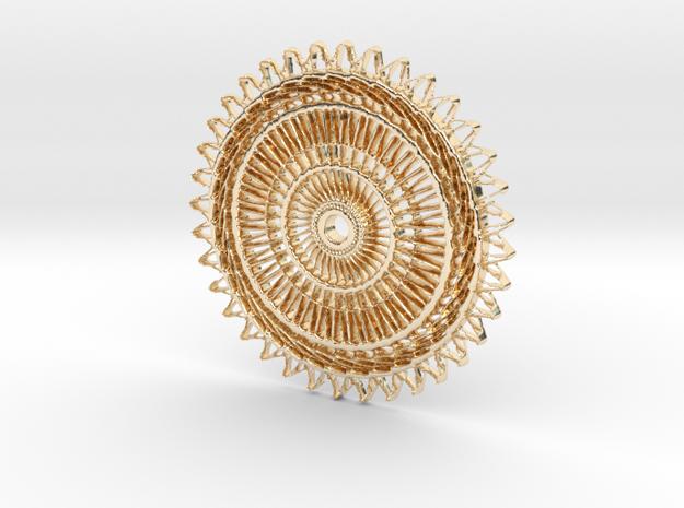 Sunburst Pendant in 14K Yellow Gold