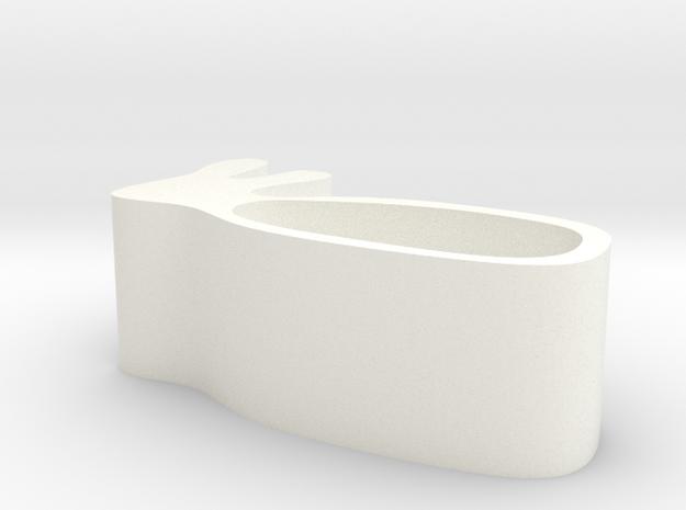 兔子肥皂盒 in White Strong & Flexible Polished