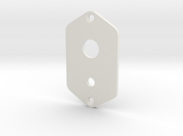 Jaguar Plate - 3 Way Switch + Mini Toggle in White Natural Versatile Plastic