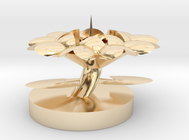 Candle Holders in 14K Gold
