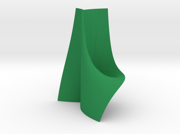 Cayley's Ruled Cubic (1 Pinch Point at Inf.) in Green Processed Versatile Plastic