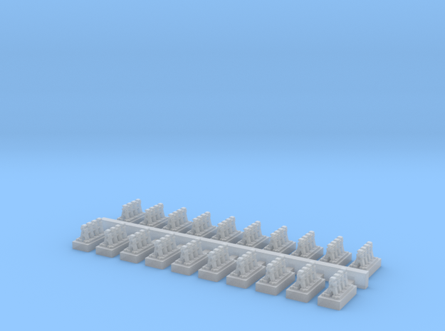 A Frames 3 x 20 - 7mm Scale in Smooth Fine Detail Plastic