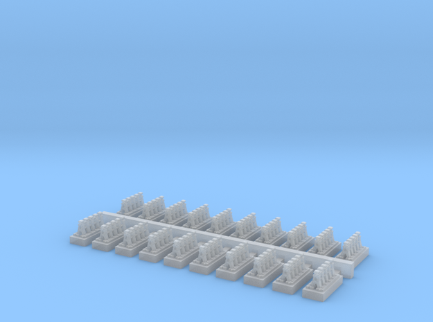 A Frames 4 x 20 - 7mm Scale in Frosted Ultra Detail
