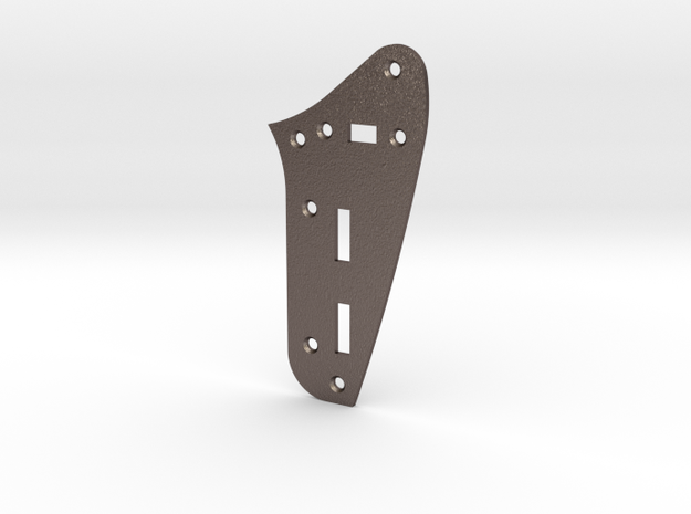 LH Jaguar Rhythm Circuit Plate  - Standard in Polished Bronzed Silver Steel