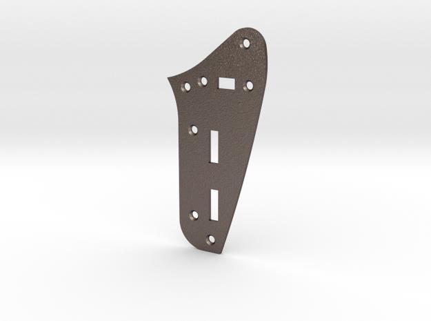 LH Jaguar Rhythm Circuit Plate  - Standard in Polished Bronzed Silver Steel
