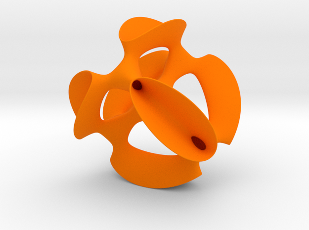 A smoothed Kummer Surface in Orange Processed Versatile Plastic: Medium