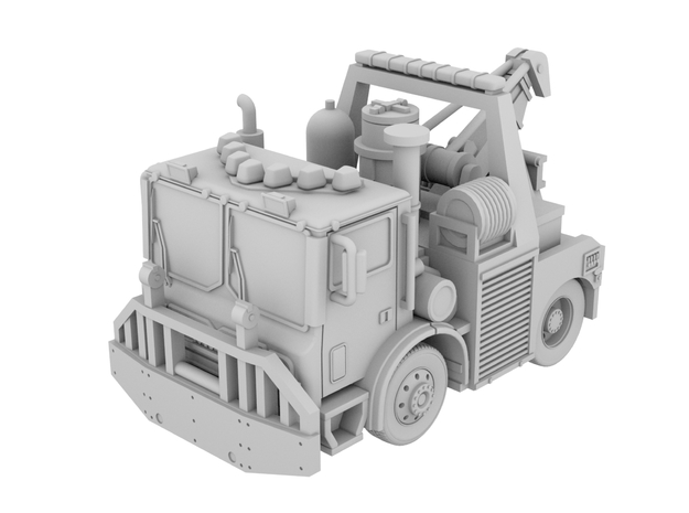 1/64 Tunnel Wrecker 30 Ton Weldbuilt in White Processed Versatile Plastic