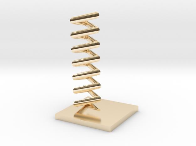 Triangular helix in 14K Yellow Gold