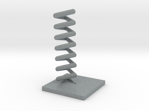 Triangular helix in Polished Metallic Plastic