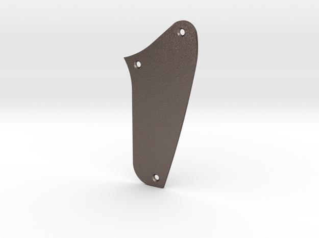 LH Jaguar Rhythm Circuit Control  Plate - Blank in Polished Bronzed Silver Steel