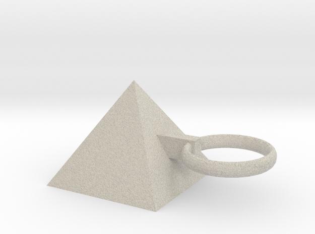 Pyramid King Keyring in Natural Sandstone