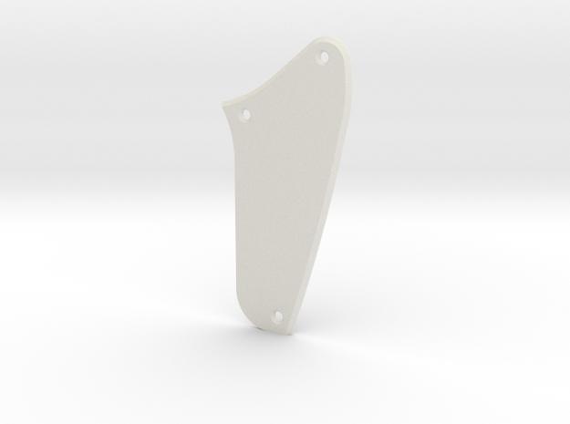 LH Jag Rhythm Circuit Control Plate - Blank Bevel in White Natural Versatile Plastic