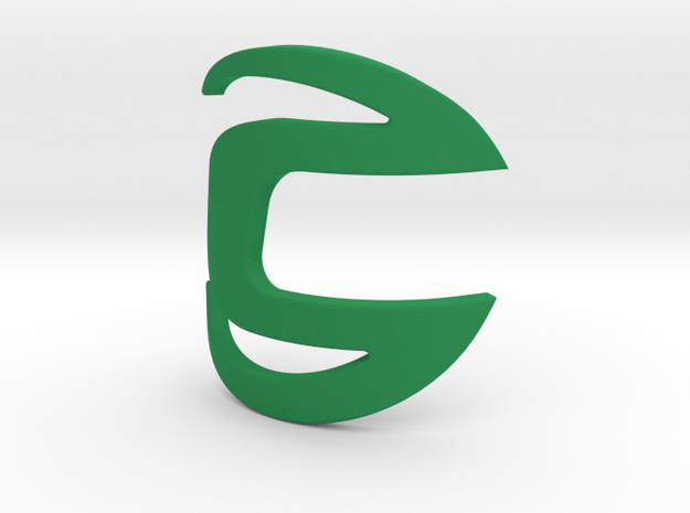 Cannondale bicycle front logo - height 50mm in Green Processed Versatile Plastic