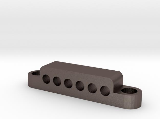 Stringblock 6 Hole in Stainless Steel