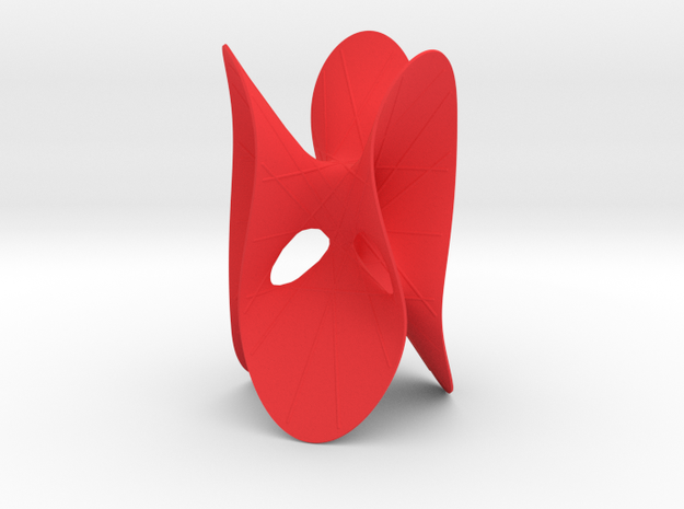 Clebsch's Diagonal Cubic with 27 Lines in Red Processed Versatile Plastic