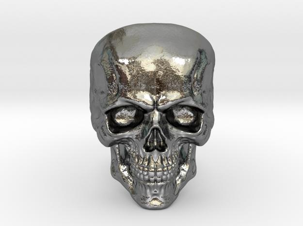 OG Skull in Fine Detail Polished Silver