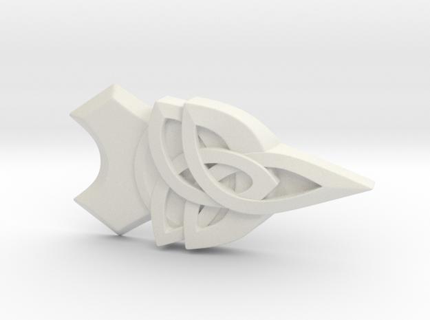 Assassin's Creed Evie Frye Botton in White Natural Versatile Plastic