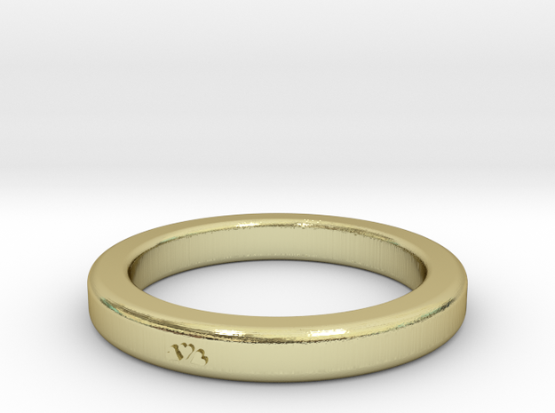Heart Ring Size 7 in 18k Gold Plated Brass