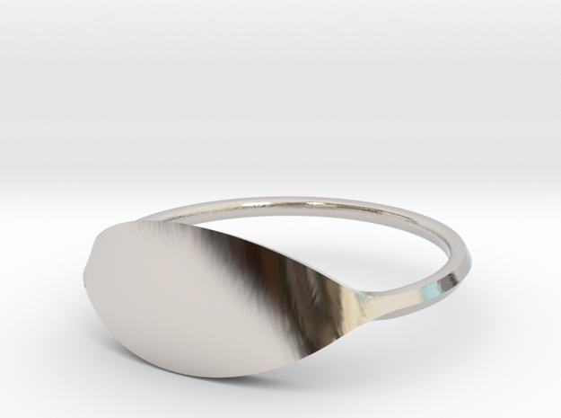 Eye Ring Size 7 in Platinum
