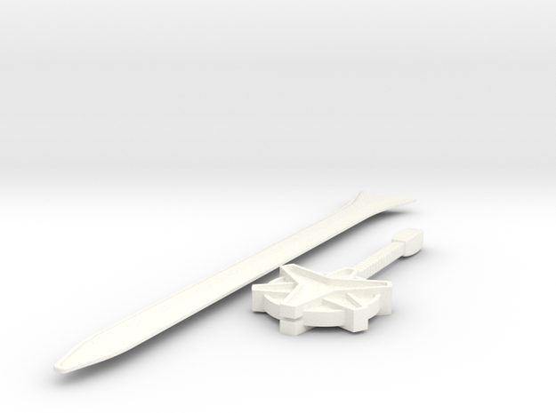 Megazord Lightspeed Sword in White Processed Versatile Plastic
